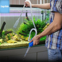 103cm Aquarium Manual Cleaner Tool Siphon Gravel Suction Pipe Filter Fr Fish Tank Vacuum Water Change Pump Tools Nice