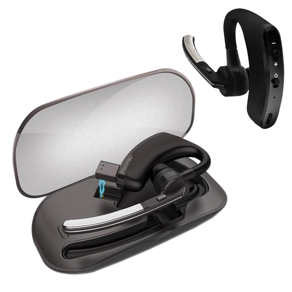 Stereo Handsfree Wireless Business Bluetooth Earphone Headphones Car Driver Handsfree Bluetooth Headset with Storage Box<br>