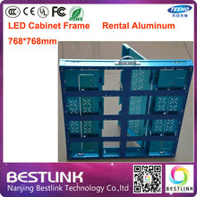 led cabinet frame aluminum led display cabinet 768*768mm for outdoor led screen rgb led panel full color programmable led signs