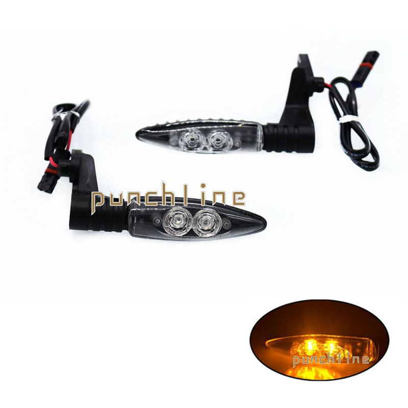For BMW K1300R 2009-2014 K1300S 2009-2014 Motorcycle Accessories Front / Rear LED Turn Signal Indicator Light Blinker #Long<br>