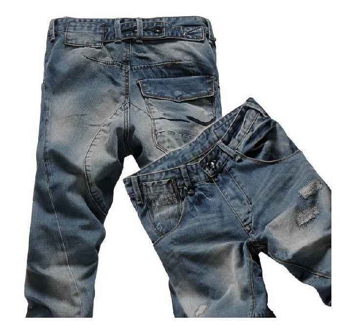Plus size mens clothing fashion casual ripped vintage harem jeans drop crotch skinny pants personality size 28-42Одежда и ак�е��уары<br><br><br>Aliexpress