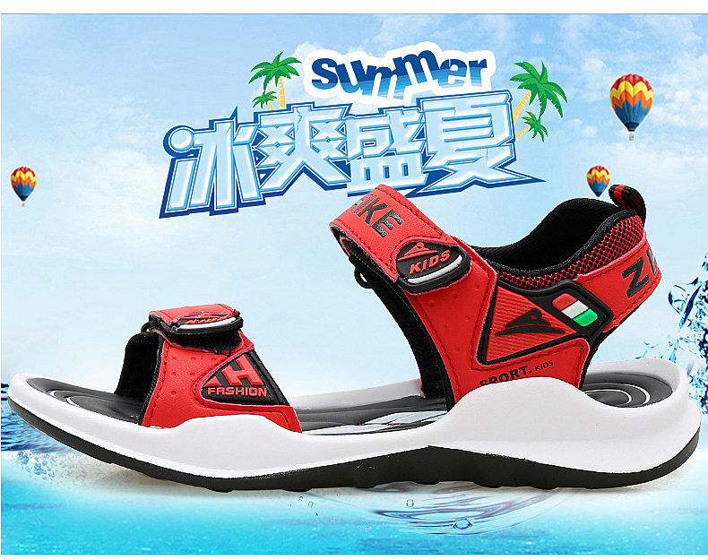 Children's Shoes Summer Open Toe Boys Sandals Sports 11 Non-slip 12 Primary School Students 15 Years Old Children's Beach Shoes 13 Online shopping Bangladesh