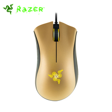 Razer Deathadder 3500DPI Gaming Mouse Gold Edition 3.5G Infrared Sensor 1000Hz Right-handed Design Ergonomic Mouse Razer Mouse