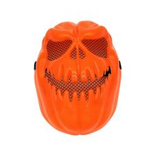 Creepy Pumpkin Mask Halloween Decorative Face Mask Terror Ghost Party Full Face Mask (Orange)