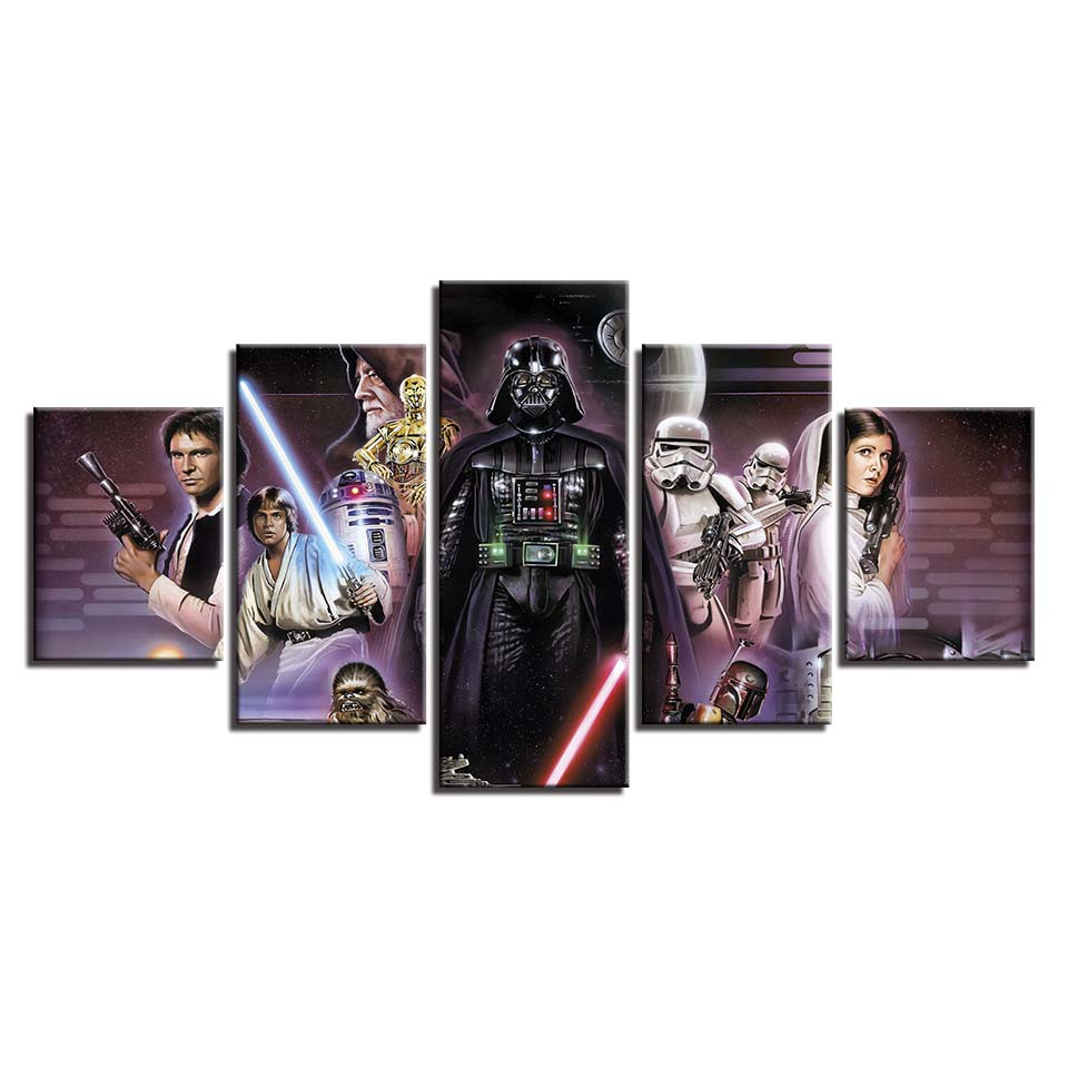 Canvas-Picture-Framework-Home-Decor-HD-Prints-Painting-5-Panels-Star-Wars-Movie-Characters-Movie-Poster (2)
