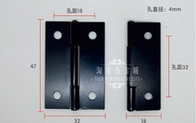 2014 Seconds Kill Time-limited Freeshipping 47 * 32 0.7 Electrophoresis Hinge Antique Black Iron 2 Inch Ordinary