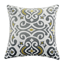 "18""*18"" Flower Totem Throw Pillow Case Soft Chair Bed Decorative Square Pillow Cover Pillowcase with Hidden Zipper"