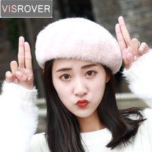 VISROVER nuevo invierno sólido Color Bonias diseñador lana Caps Beret  sombreros para mujer Cachemira chica boinas 2f1c4b20190