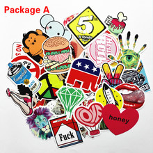 50pcs Funny Car Stickers on Motorcycle Suitcase Home Decor Phone Laptop Covers DIY Vinyl Decal Sticker Bomb JDM Car Styling