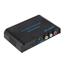 720p/1080p AV/S-VIDEO to HDMI Scaler Video Converter Adaptor Composite(AV/S-Video)+HDMI to HDMI Converter with Top Quality