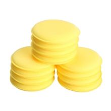12pcs Compressed Sponge Mini Yellow Car Auto Washing Cleaning Sponge Block Wax Foam Sponges Applicator Pads Car-styling Hot Sale