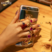 KISSCASE For iPhone 7 7 Plus iPhone 6 6S Plus Luxury Mirror Case Rhinestone Gemstone Phone Cover For iPhone 7 7 Women Bag Fundas