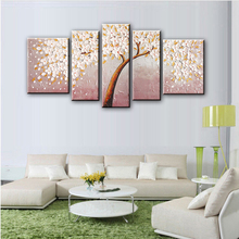 NEW 100% hand-painted  Golden autumn silver rich tree  Art Decoration sitting room Oil Painting On Canvas Wall   91815801G
