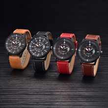 Mens Watches Fashion Brand Leather Band Quartz Watch Sports Military Cheap Clock Male Vintage watch montre Man relogio masculino