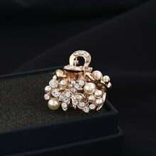 Fashion Small Imitation Pearl Metal Hair Claw Leaf Shape Hair Accessories Ladies Hair Clips(China)