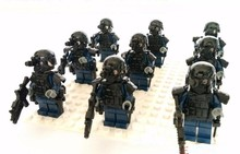 SWAT military Against original Block toys City swat gun police military lepin weapons accessories Compatible lepin mini figures