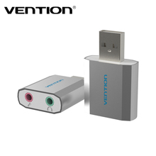 Vention High Quality Al Mg Alloy USB 2.0 External Sound Card 5.1 Channel No Drive External Stereo Adapter for Windows/Linux/ Mac