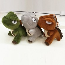 10CM 20pcs Cute Plush Dinosaur Tyrannosaurus rex For Phone/Bag/Key chain Pendants Promotion Gifts