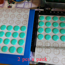 2 pcs a set 11*15.35 inch Silicone Macaron Baking Mat Rug Bear Heart Circle Shape Reusable Non-Stick Pastry Mat(China)