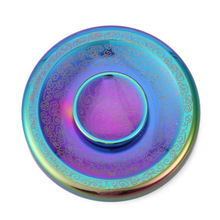 Colorful Maya Clouds Fidget Spinner Round Cake Shape Hand Spinner Metal EDC Handspinner Toy Fingertip Relieve Stress Spiner(China)