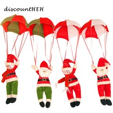 Christmas Decorations New Year Santa Claus Snowman Parachute Drop Pendants Xmas Tree Hanging Ornaments(China)