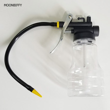 Buy MOONBIFFY New 250cc Transparent High Pressure Pump Oiler Lubrication Oil Can Plastic Machine Oiler Grease 245mm Length flex Gun