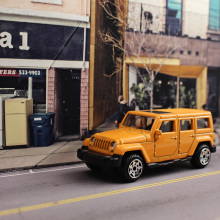 1:64 Jeep Wrangler SUV Die casting Alloy car model kids toys Collection Decoration metallic material Pocket car