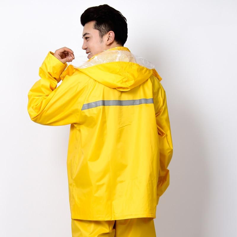 Waterproof Rain Poncho Raincoat Men Outdoor Motorcycle Rainwear Cloak Capa De Chuva Layer Windbreaker Raincoat Breathable QQG387