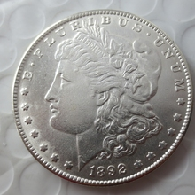 90% silver Date 1892-S Morgan Dollars copy coins -High Quality(China)