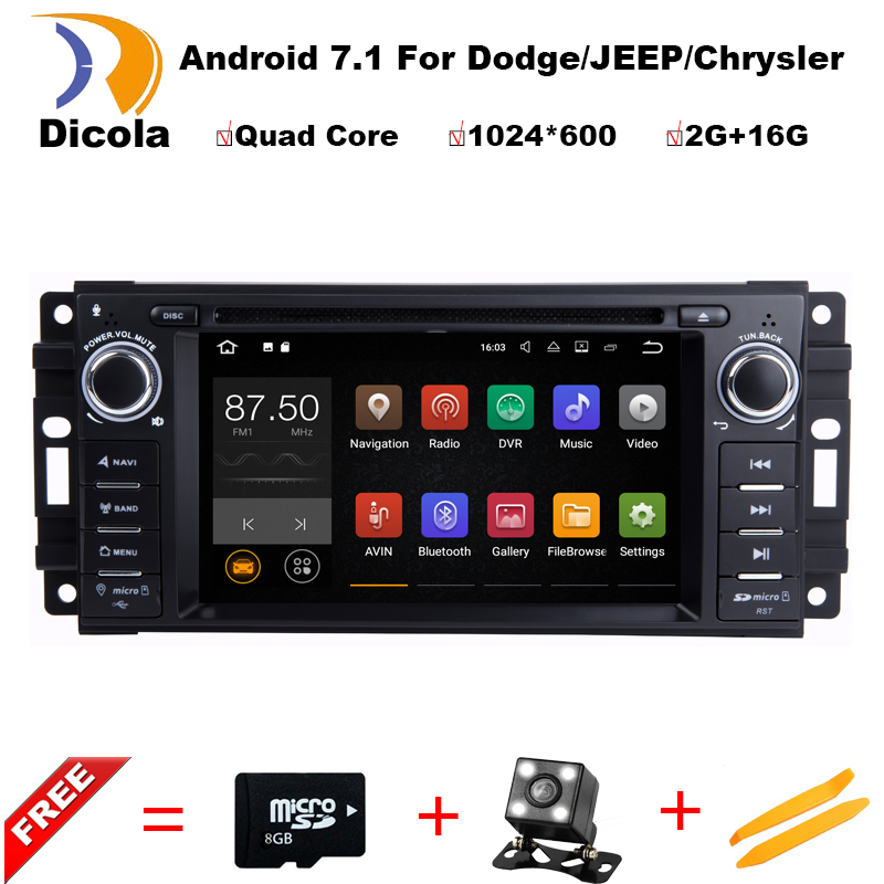 Quad Core Android 7.1CAR DVD player FOR JEEP GRAND CHEROKEE PATRIOT WRANGLE car audio gps stereo head unit Multimedia navigation(China (Mainland))