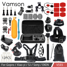 Buy Vamson Accessories kit Mount Tripod Gopro Hero 6 5 4 3 SJCAM Sj4000 Xiaomi Yi 4K EKEN SOOCOO Camera VS93 for $31.91 in AliExpress store