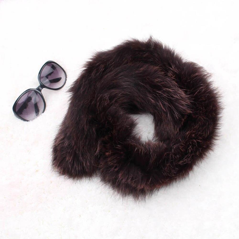 fox fur scarf brown color 1