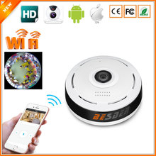 BESDER 360 Degree Panoramic Camera IP 960P 1.3MP Home Security IP Camera Wifi Two Way Audio WebCam SD Card Slot Digital PTZ