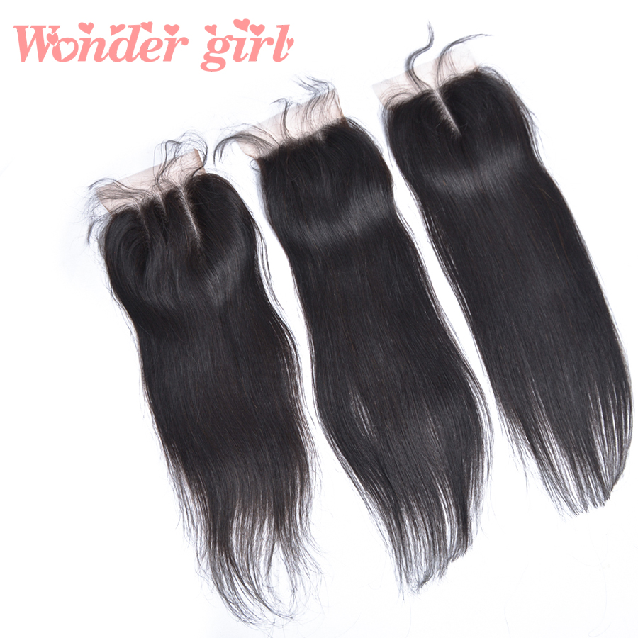 Brazilian Straight Hair Lace Closure 4x4 Straight Brazilian Hair Lace Closure With Baby Hair Free/Middle/Three Part Lace Closure<br><br>Aliexpress