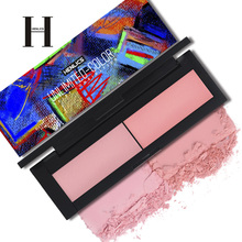 HENLICS Beauty Product Series Wonderful 2 Color Makeup Blush Face Makeup Unlimited Color Fairy Blusher Powder Palette Cosmetic(China)