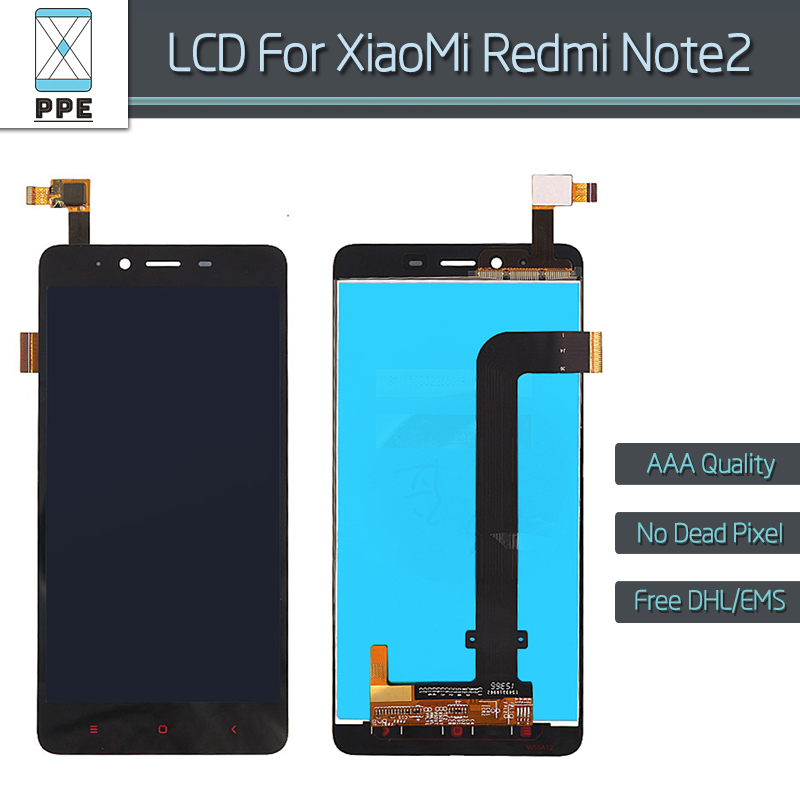 For Xiaomi Redmi Note 2 LCD display with Touch screen digitizer Assembly Hongmi note 2 LCD Replacement No dead Pixel 5.5 black<br><br>Aliexpress