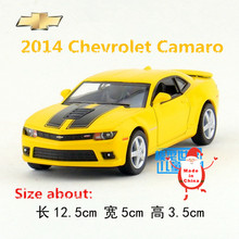 KINSMART Die-Cast Metal Model/1:38 Scale/2014 Chevrolet Camaro Racing Car toy/Pull Back for children's gift or collection