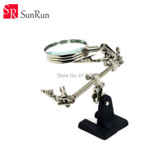 New high quality Third Hand Soldering Iron Stand Helping Magnifying Tool,Magnifying glass with electric iron clamps
