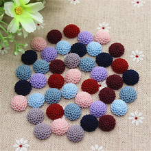 50PCS Mix Colors 12mm Vintage Resin Dahlia Flowers Flatback Cabochon Embellishment Accessories DIY Scrapbooking Craft Making