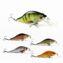 "5pcs/set 3.5""/10.7g Artificial Crankbait Bionic Texture Fishing Lure Lifelike Swim Bait 6# Strong Treble Hooks 5 Color In Stock(China)"