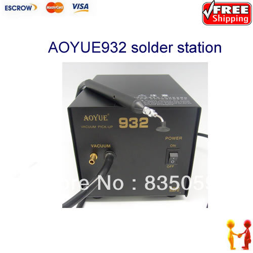 FREE SHIPPING!! Aoyue 932 Vacuum Pick-Up station soldering station,suitable for small pcb repair<br><br>Aliexpress