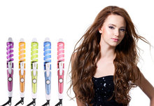 Magic Pro Perfect Hair Curlers Electric Curl Ceramic Spiral Curling Iron Wand Salon Hair Styling Tools Styler(China)