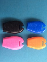 Silicone car key cover case fob replacement for 6 button remote key shell for chrysler