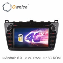 Ownice C500 1024*600 Quad Core Android 6.0 Car DVD GPS For Mazda 6 Ruiyi Ultra 2008 2009 2010 2011 2012 Wifi 4G Radio 2GB RAM BT
