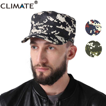 CLIMATE 2017 Men Women Camouflag Hunting Army Flat Top Caps Antiwear Digital Meisai No Logo Red Navy Adult Adjustable Army Hat