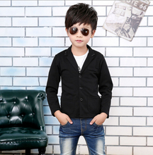 New 2017,Boys Jacket,Spring Autumn Outerwear,Kids Boys Party Blazers Wear,Baby Boy Clothes,Black blazers,Boy's Coat(China)