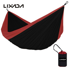 Lixada Portable Nylon Parachute Double Hammock Garden Outdoor Camping Travel Furniture Survival Hammock Swing Sleeping Bed Tools