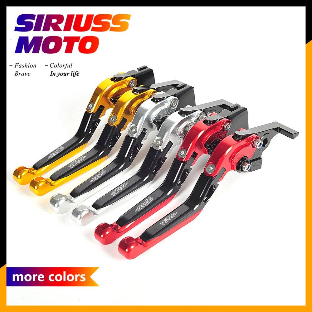 All CNC Aluminum Motorcycle Motorbike Folding Lever Motocross Brake Clutch Levers Case for Yamaha TDM 900 TDM-900 2002-2003<br>