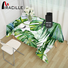 Buy Miracille Green Tropical Plants Leaves Pattern Tablecloth Wedding Tea Party Waterproof Table Covers Pastoral Home Decorative for $22.68 in AliExpress store
