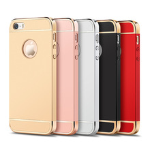 Luxury electroplating phone cases for iphone 5/5s/SE mobile phone protective cover scrub phone case for iphone